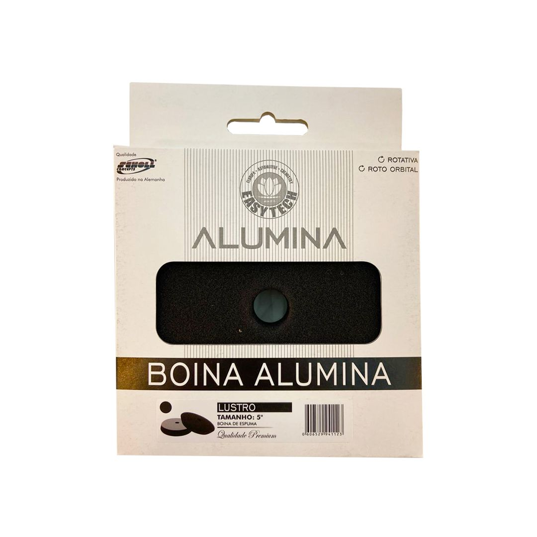 """Boina de Lustro Super Macia Alumina Preto 5"""""""