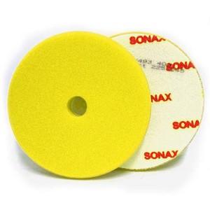 Boina Espuma de Refino Amarela 165mm c/Furo Sonax