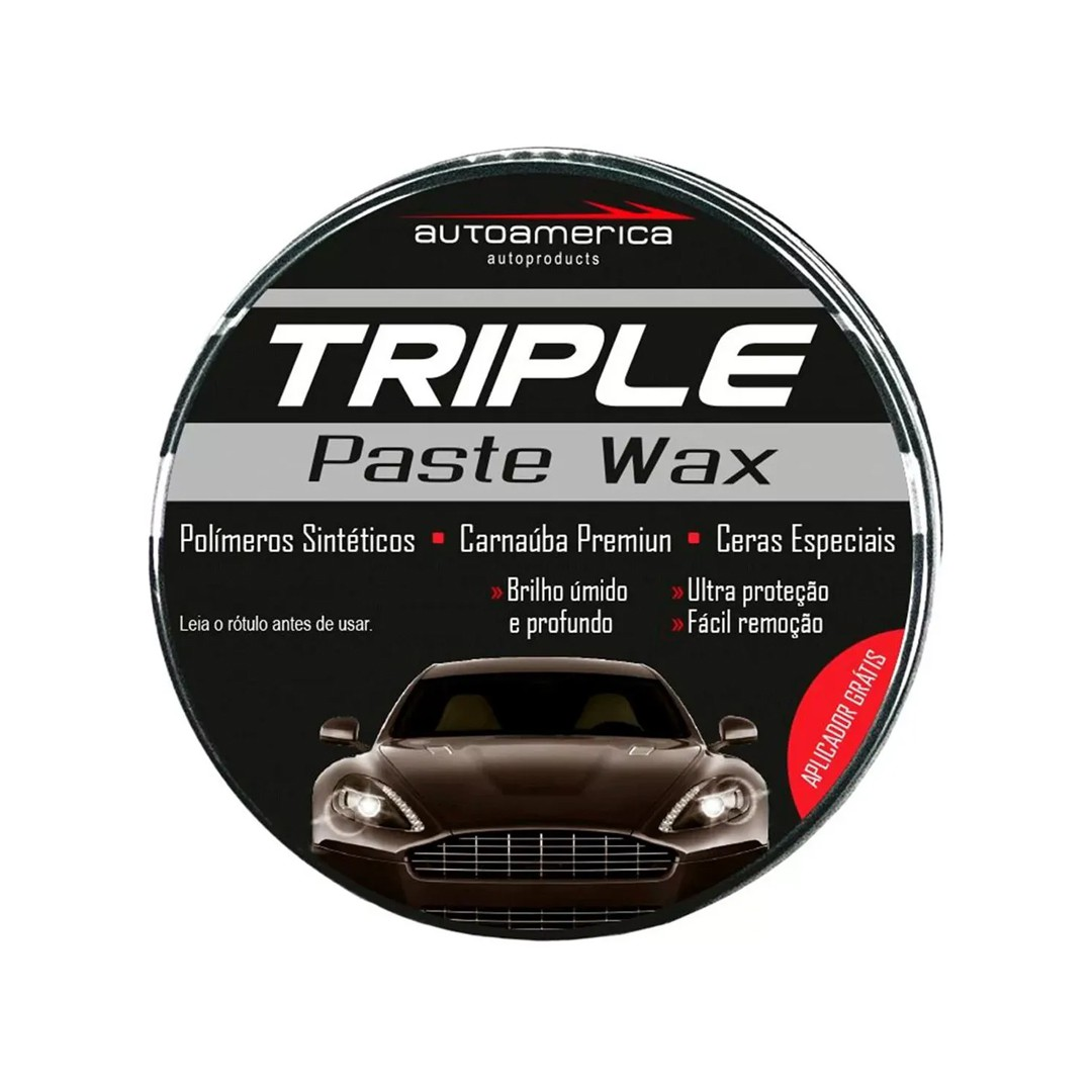 Cera Triple Wax 100g c/aplicador Autoamerica