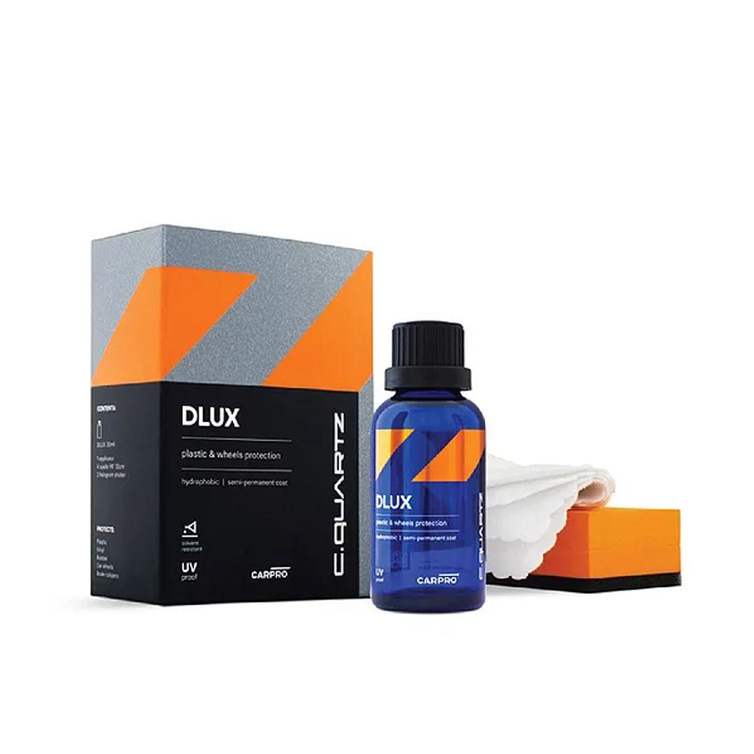 CQuartz Dlux Kit 30ml Proteção e Restauração Plástica, Cromados e Alumínio CarPro