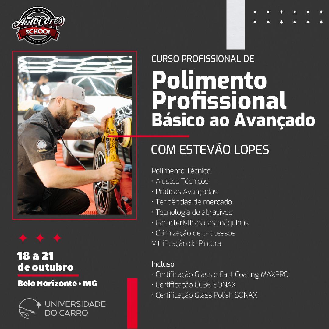 Curso Polimento Profissional do Básico ao Avançado 18 a 21/10/2021