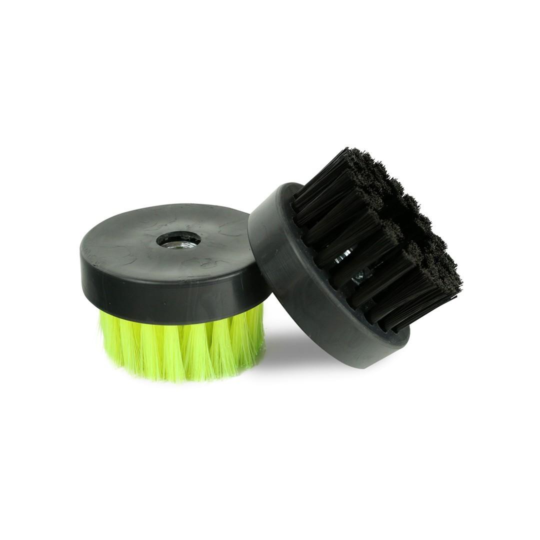 Escova Rotativa Média Preta 80mm Rosca 5/8 Spin