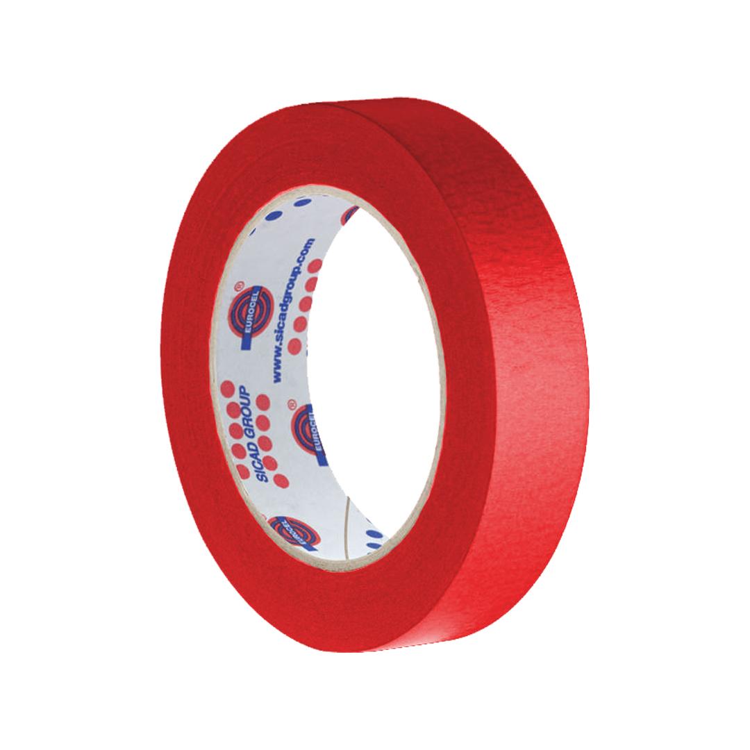 EUROCEL Fita Crepe Vermelha 18x50 01un.