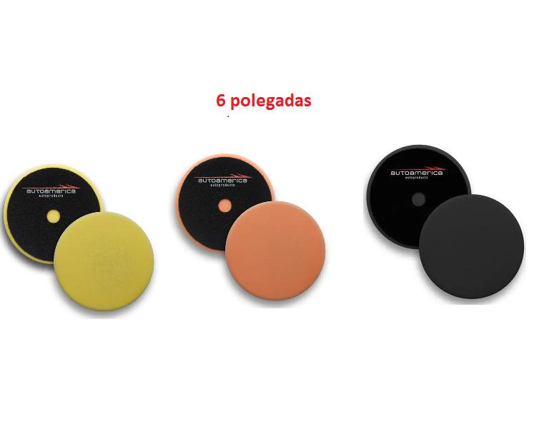 Kit boinas low cost 6 polegadas corte+refino+lustro