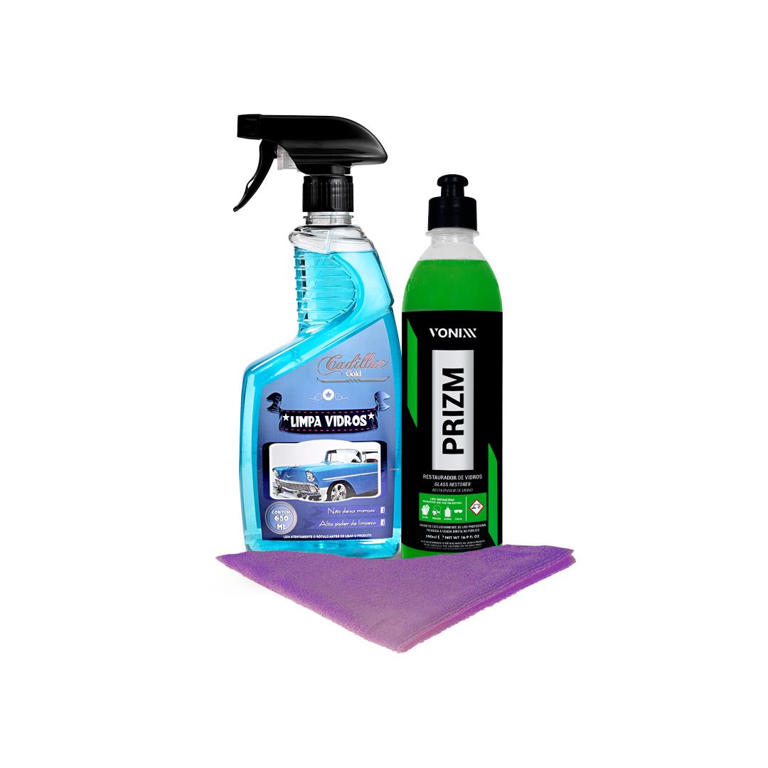 Kit Remoção de Chuva Acida e Limpeza de Vidros