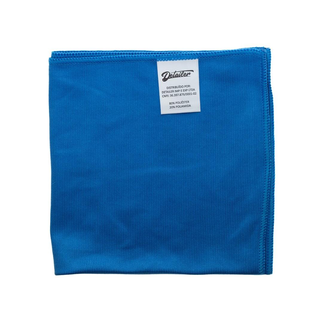 Mandala Flanela de Microfibra P/ Vidros 40x40 Secagem Toalha Azul