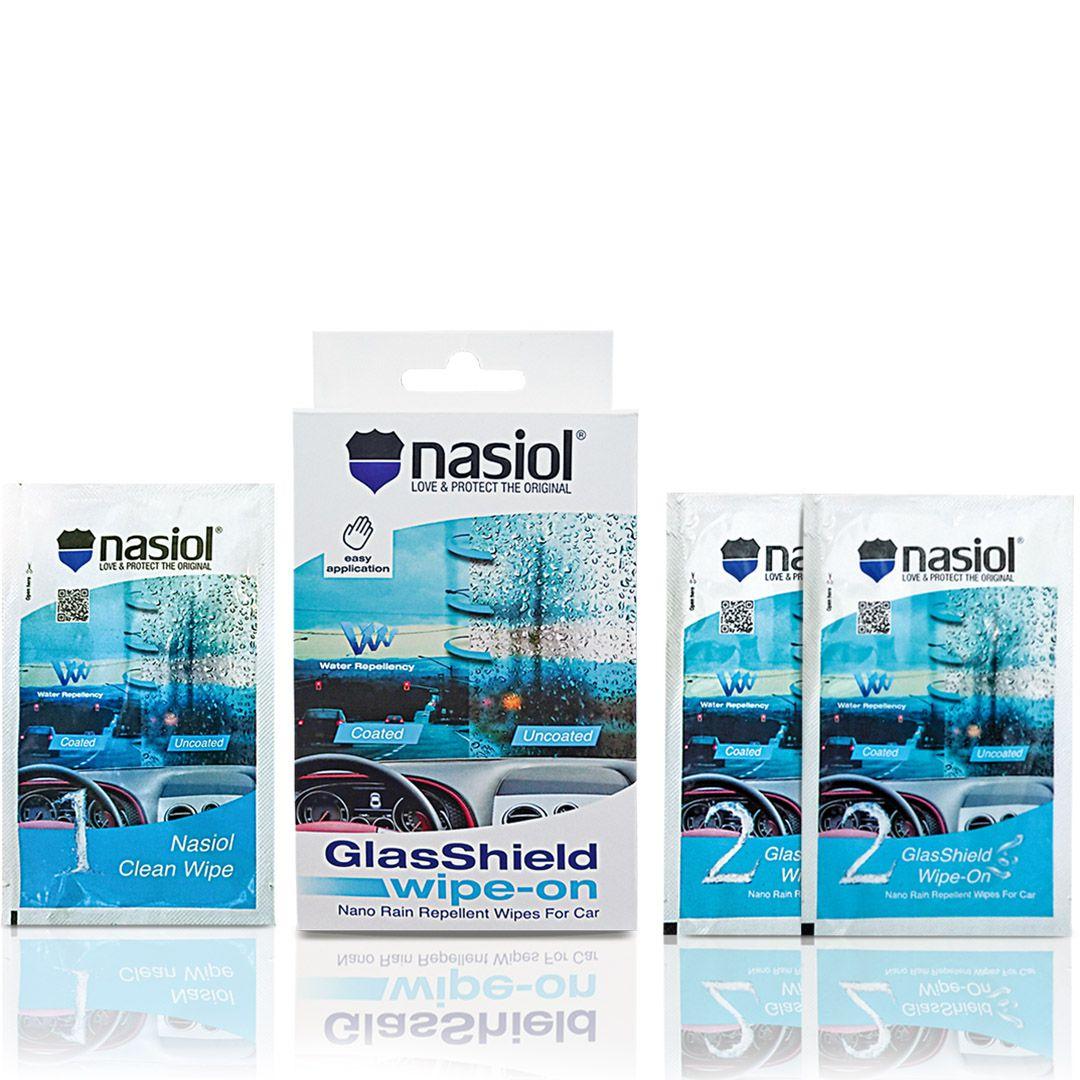 Nasiol Repelente de Chuvas Glasshield Wipe-on