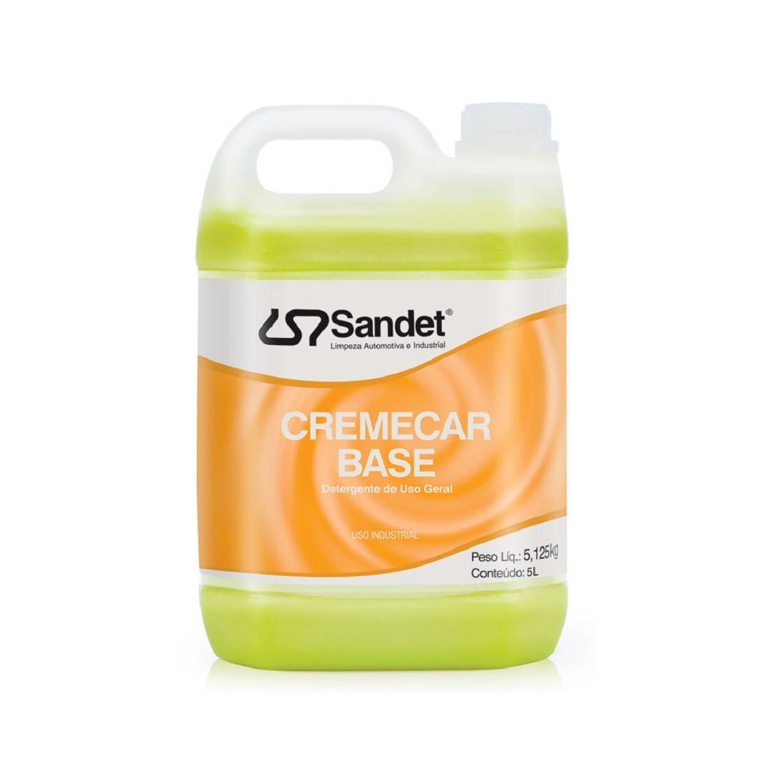 Shampoo Desengraxante Cremecar Concentrado Base Sandet 5lts