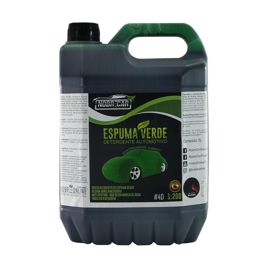 Shampoo Neutro Espuma Verde 5L Nobre Car