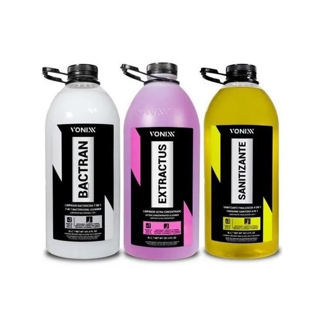Sistema Vsc 3 litros Vonixx Extractus + Bactran + Sanitizante