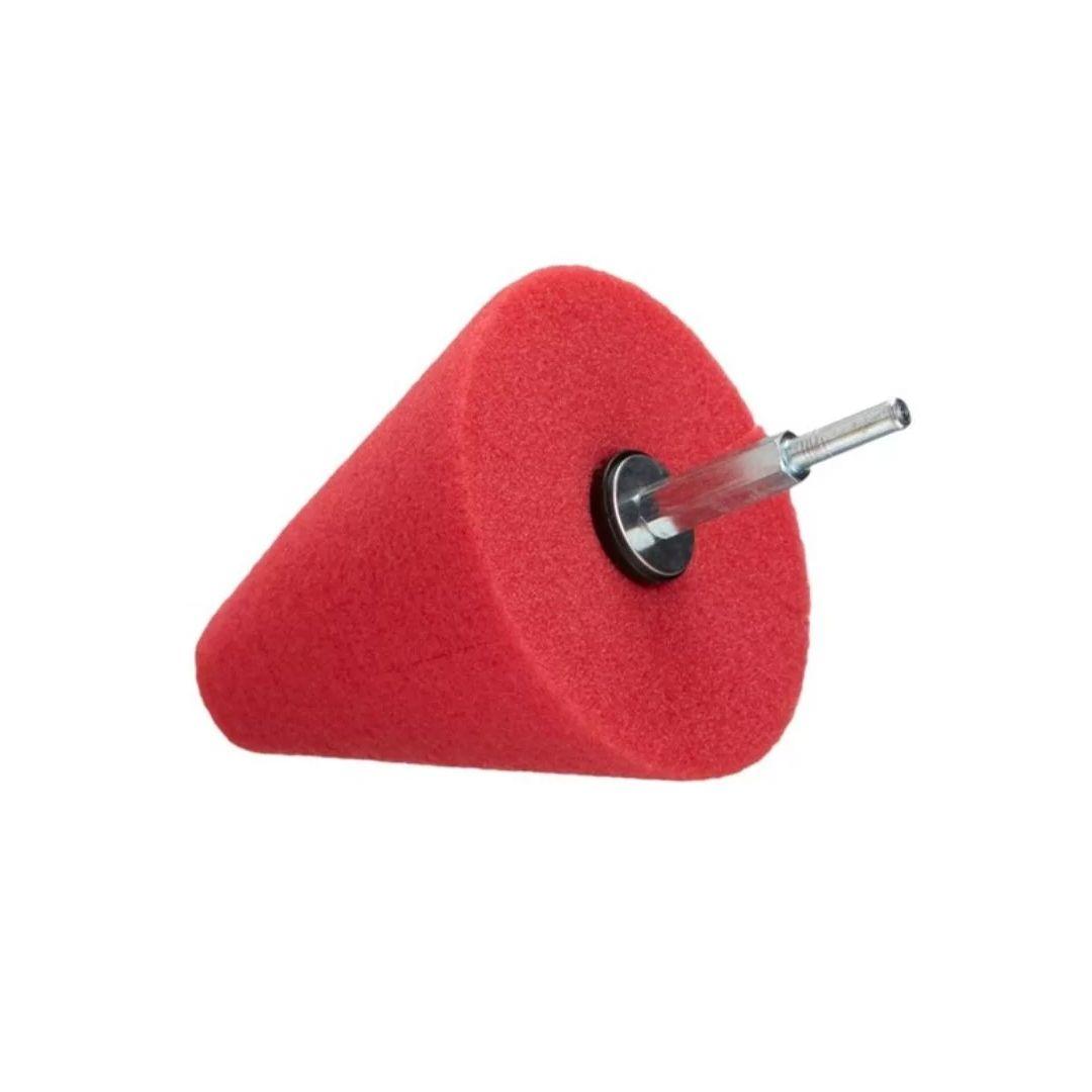 Kers  Super Cone de Espuma Vermelho Para Polimento de Rodas