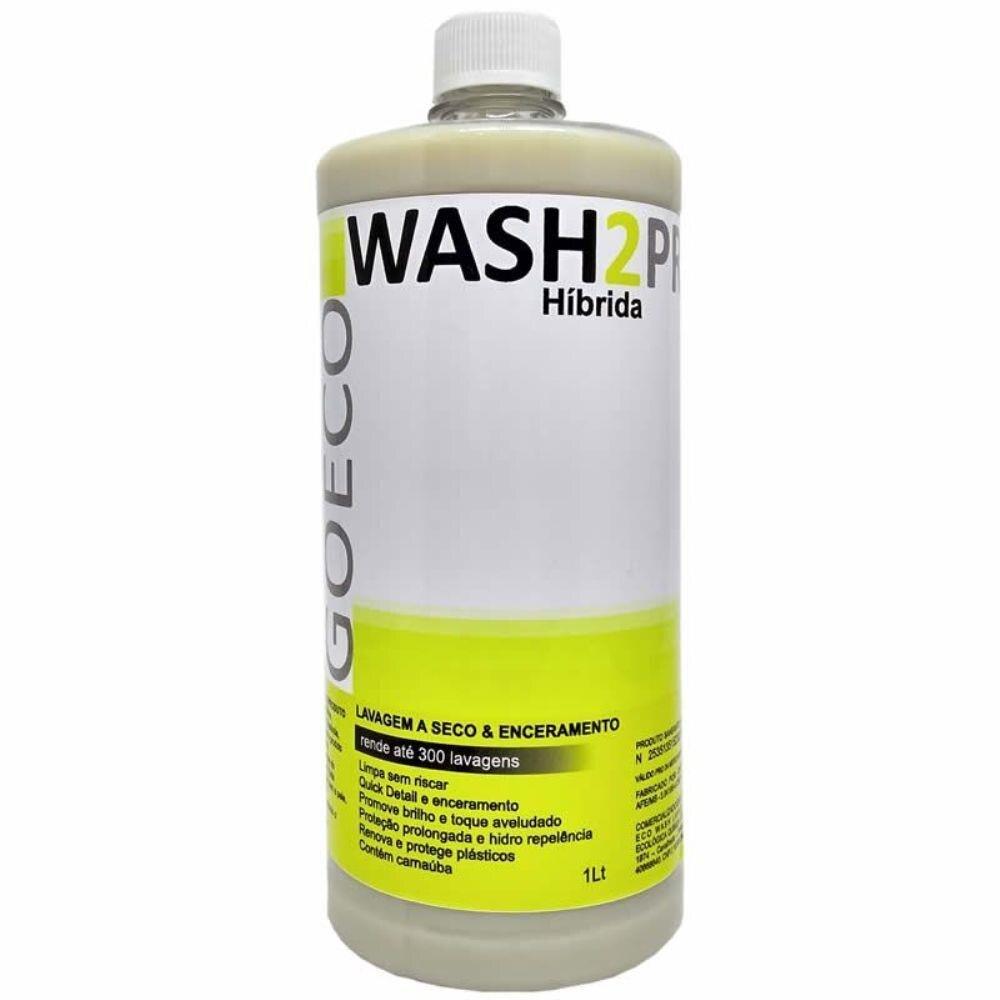 Wash2pro Híbrida 1lt Lavagem a seco e enceramento 300 lavagens GO ECO WASH