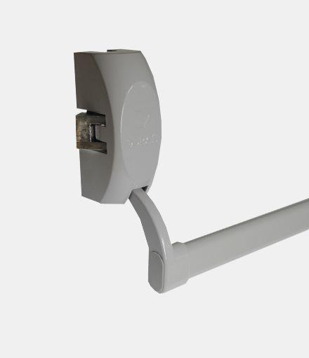 Barra Antipânico Push Simples Horizontal  - Cinza