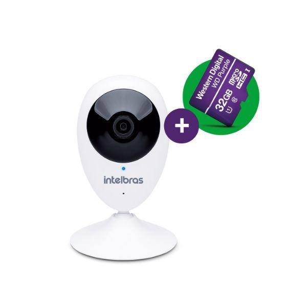 Câmera de Segurança Intelbras WI-FI IC3 + MSD 32GB