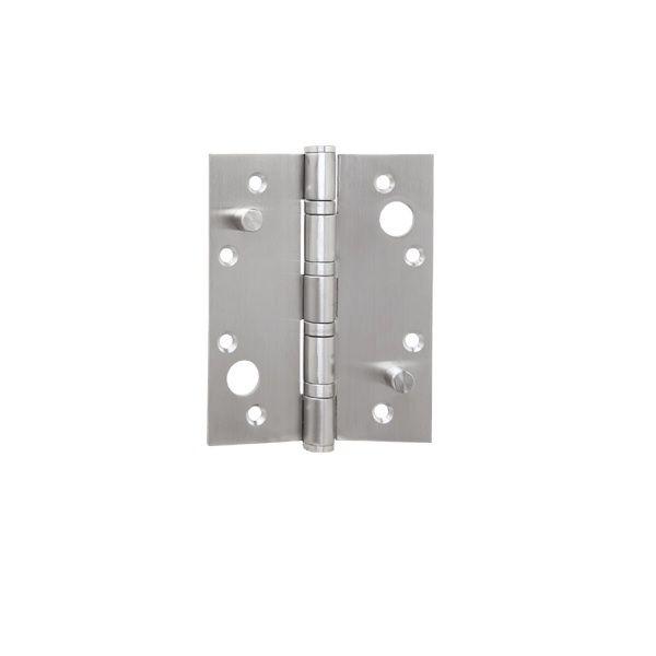 Dobradiça Volper 4,0 X 3,5 X 3mm C/pino de Segurança Inox Escovado