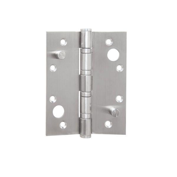 Dobradiça Volper 5 X 4 X 3mm C/Pino de Segurança Inox Escovado