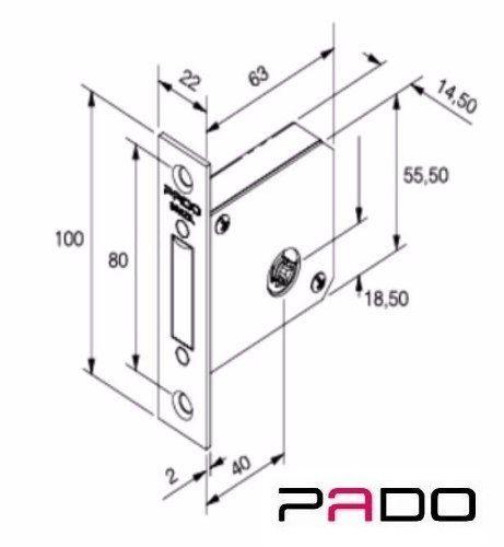 Fechadura 1000 IXP Super Trava Inox Polido - Tetra Chave