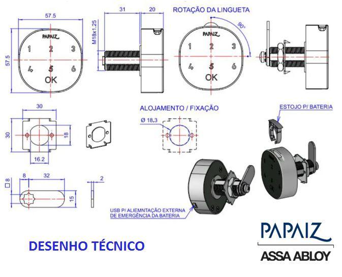 Fechadura Digital P/ Moveis M1602 CA