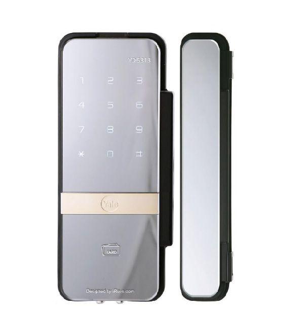 Fechadura Digital Yale Sobrepor para Porta de Vidro Senha Cartão YDG 313