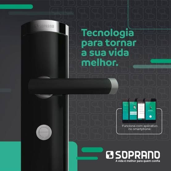 Fechadura Digital Smart One Preta  - EXT