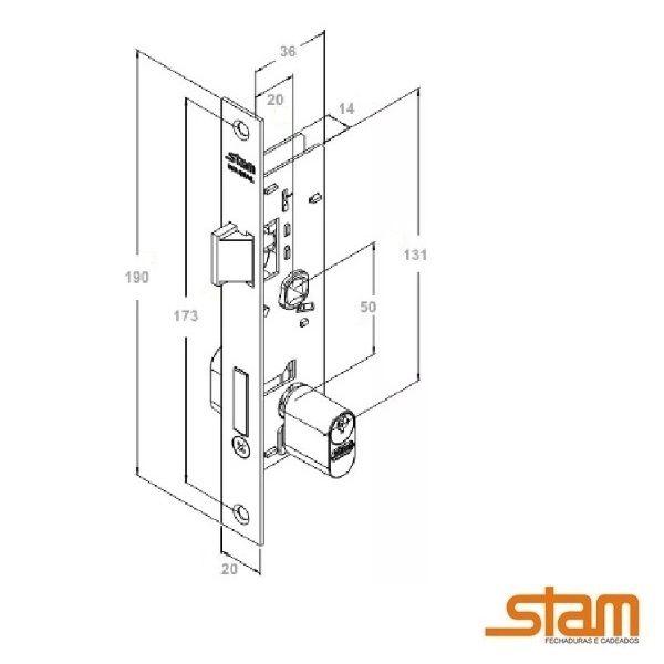 Fechadura Stam 602/03 Inox