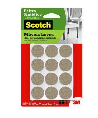 Feltro Sintético para Móveis Leves 3M Scotch™ Redondo