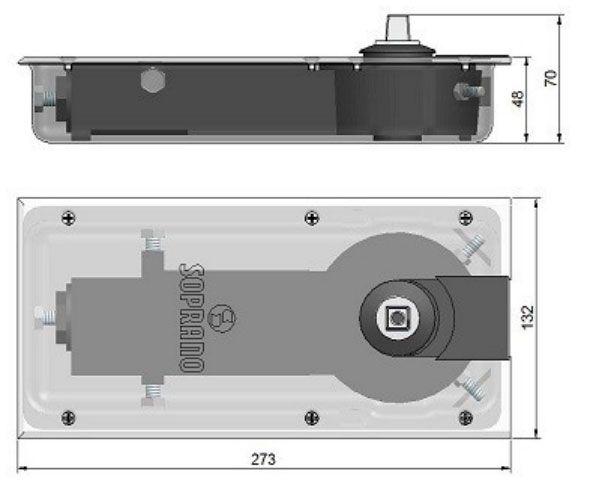 Mola Hidraulica de Piso Soprano P310