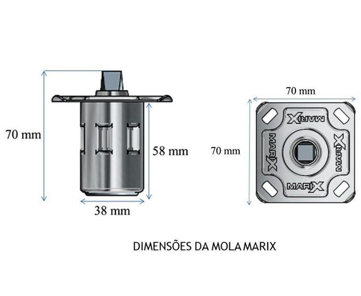 Mola Pneumática P/Porta de Madeira – Inox