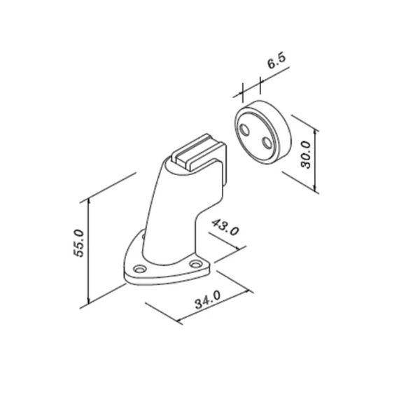 Prendedor Magnético 808Z CR