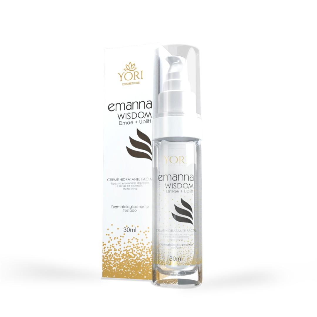 Creme Hidratante, Anti Idade, e Rejuvenescimento - Emanna Wisdom - DMAE + UPLIFT Com Nanotecnologia