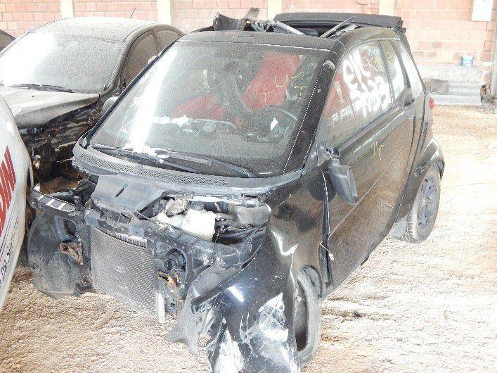Sucata Smart Fortwo Passion Cabrio 1.0 62KW 2009 Para Retirada de Peças