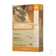 Advocate Antipulgas Bayer para Gatos de até 4 Kg - 0,4 mL