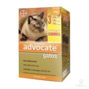 Advocate Antipulgas Bayer para Gatos de até 4 Kg - 0,4 mL - Combo com 3 unidades