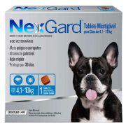 Antipulgas E Carrapatos Nexgard Para Cães De 4 a 10Kg Com 1 Tabletes