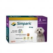 Antipulgas e Carrapatos Simparic 10mg para Cães 2,6 a 5Kg - 3 Comprimidos