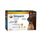 Antipulgas e Carrapatos Simparic 120mg para Cães 40 a 60 Kg - 3 Comprimidos
