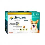 Antipulgas e Carrapatos Simparic 40mg para Cães 10,1 a 20 Kg - 1 Comprimido