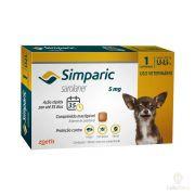 Antipulgas Zoetis Simparic   5mg para Cães 1,3 a 2,5 Kg - 1 Comprimido