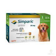 Antipulgas Zoetis Simparic 80mg para Cães 20 a 40Kg - 1 Comprimido