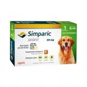 Antipulgas e Carrapatos Simparic 80mg para Cães 20 a 40Kg - 1 Comprimido