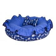 Cama Para Cachorros Lavável Dupla Face - Azul
