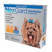 Antipulgas E Carrapatos Nexgard Para Cães De  2 a 4Kg Com 3 Tabletes