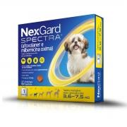 NexGard Spectra Antipulgas e Carrapatos para Caes de 3,6 a 7,5kg