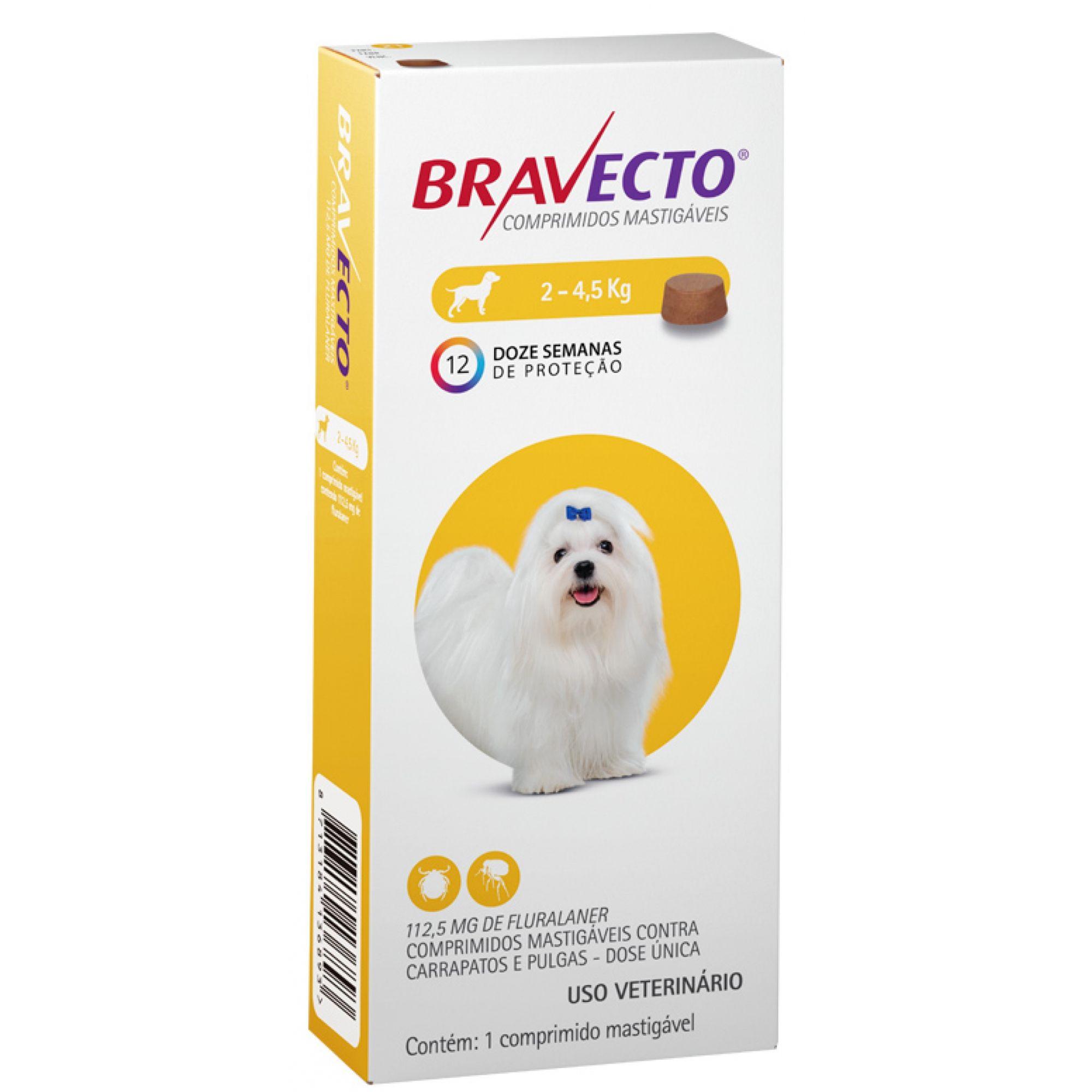 Antipulgas e Carrapatos Bravecto2 a 4,5Kg