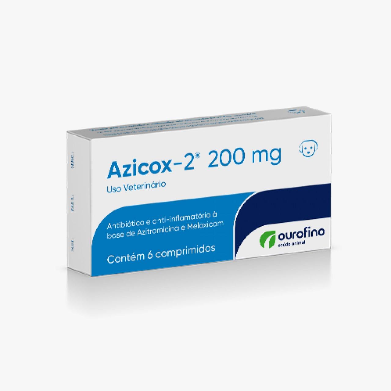 Azicox 200 Mg - 06 Comprimidos