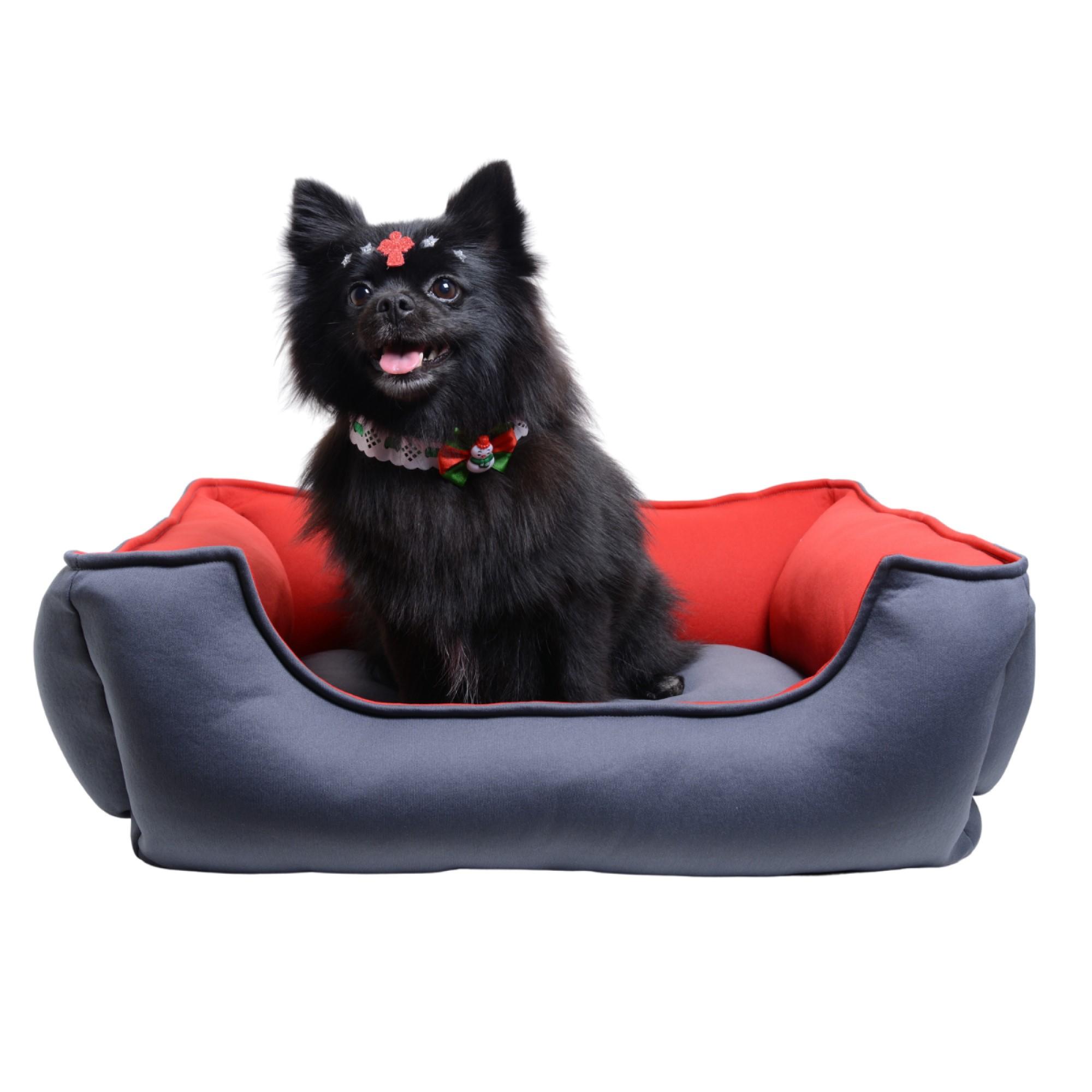 Cama para Cachorro Luxo Protect - Vermelha