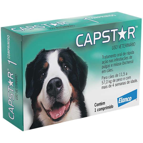 Capstar Caes 11,5 a 57 kg (57 mg) - Caixa com 01 Comprimido
