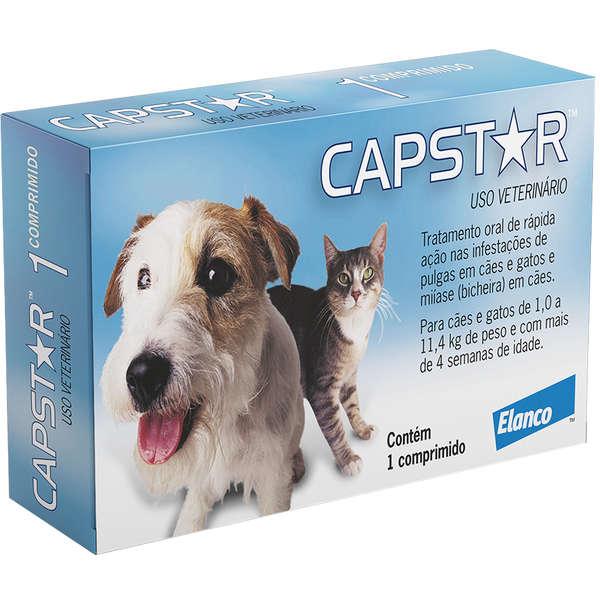 Capstar Caes e Gatos 1,0 a 11,4 kg (11,4 mg) - Caixa com 01 Comprimido