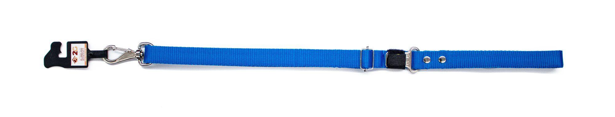 Cinto de Segurança para Cachorro com Guia 2 em 1 - Azul