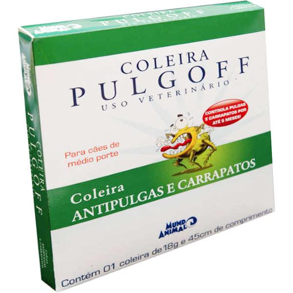 Coleira Antipulgas e carrapatos para cães pulgoff 45 CM - M